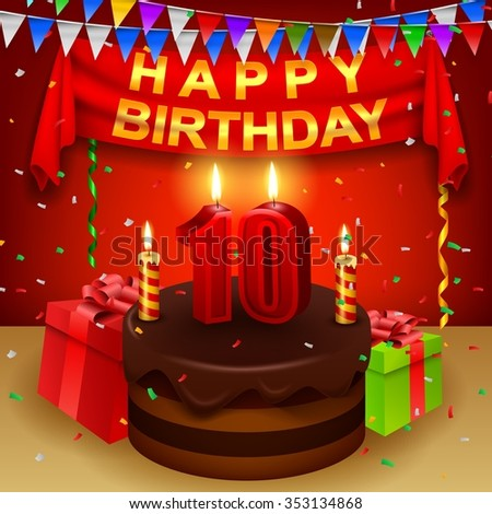 Th Birthday Cake Stock Images RoyaltyFree Images  Vectors - 10th birthday cake