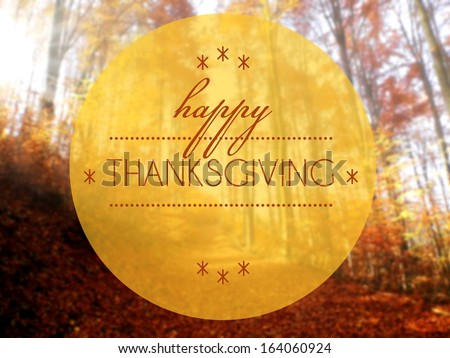 Happy thanksgiving Autumn creative conceptual illustration - stock photo