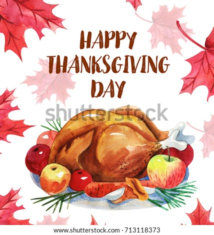 Happy thanksgiving greeting card turkey lettering canadian stock happy thanksgiving greeting card with turkey and letteringnadian traditional holiday m4hsunfo
