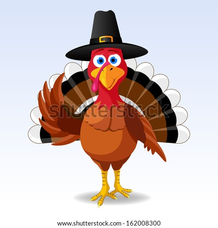 Happy Thanksgiving Turkey - stock photo