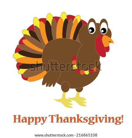 Happy Thanksgiving Turkey - stock photo