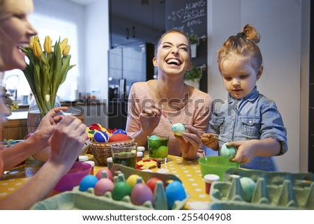 Happy time during prepare for Easter time  - stock photo