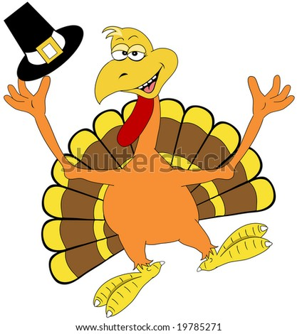 Happy turkey illustration.