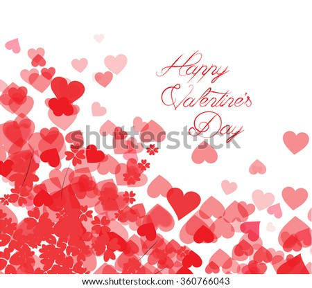 Happy Valentines Day Card Hearts Light Stock Illustration ...