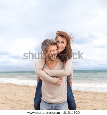 happy valentine travel on the sea - stock photo