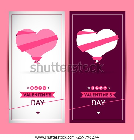 Happy valentines day and weeding cards. You can use for invitations or cards. Heart icons  - stock photo