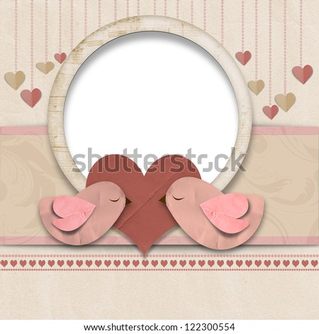 Happy Valentines Day. Background with space for text or photo - stock photo