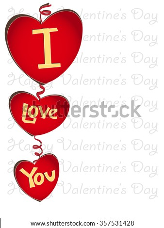 happy valentines day letters in style of paper cut - Valentines Letters