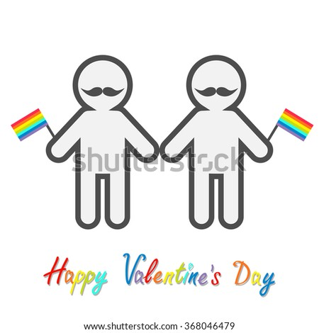 Happy Valentines Day Love Card Gay Illustration 368046479 – Gay Valentines Card