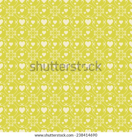 Happy Valentines Day seamless pattern.