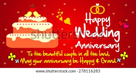 Happy Wedding Anniversary Stock Images Royalty Free