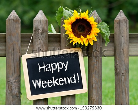 Happy Weekend - stock photo