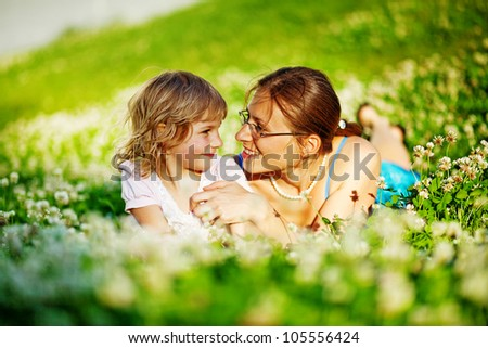 Happy woman with outdoors - stock photo
