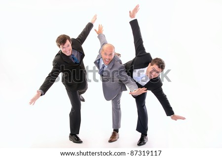 Happy workers - stock photo