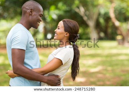 happy young african american couple in love - stock photo