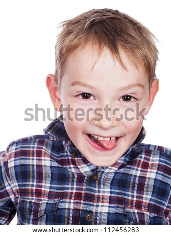 Happy young boy with smile