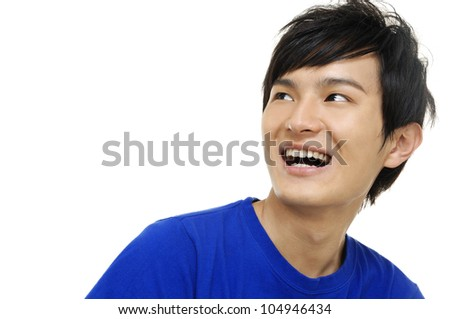 happy young casual man portrait, - stock photo