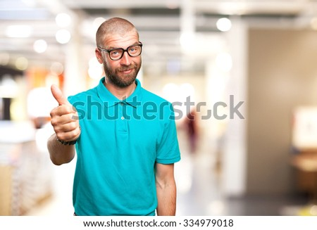 happy young-man okay gesture - stock photo