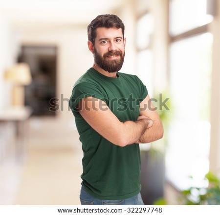 happy young man smiling - stock photo