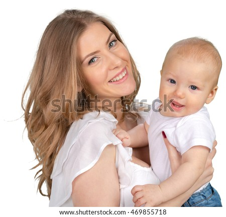 happy young mother with a child