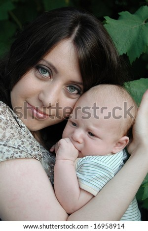 Happy young mother with her child