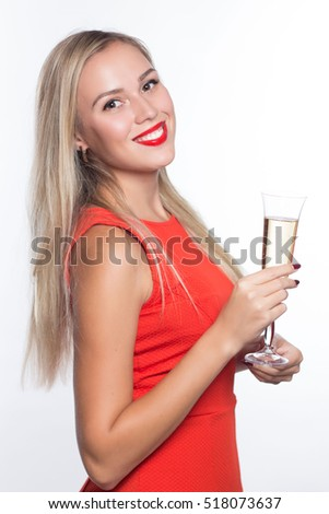 Red dress lipstick background