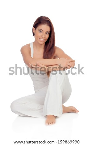 Smiling woman stock photo 210702913 shutterstock for How to sit comfortably on the floor