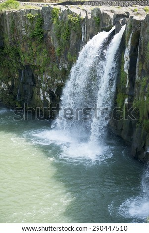 harakiri falls, oita-prefecture japan - stock photo