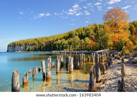 Harbor at Fayette Historic Ghost Town Michigan Upper Peninsula