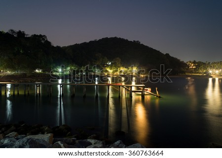 Harbor at Rayong province in Thailand