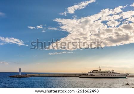 Harbor, Cote d'Azur - stock photo