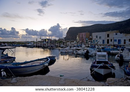 Harbor in Favignana, Sicily