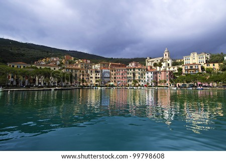 Harbor of Fezzano, Portovenere, Liguria, Italy