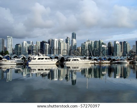 Harbor View in Vancouver - stock photo