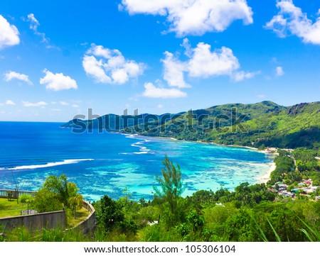 Harbor View Landscape - stock photo