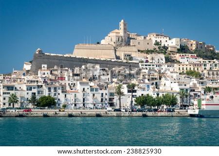Harbour in Ibiza town, Ibiza island, Spain - stock photo