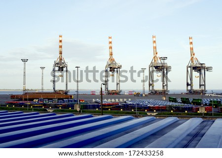 Harbour of Bremerhaven - stock photo