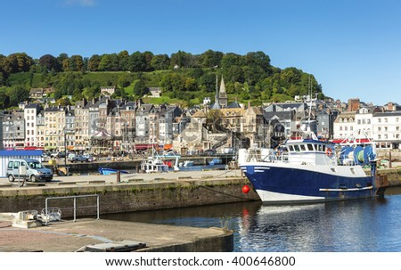 Harbour of Honfleur; Normandie, Seine