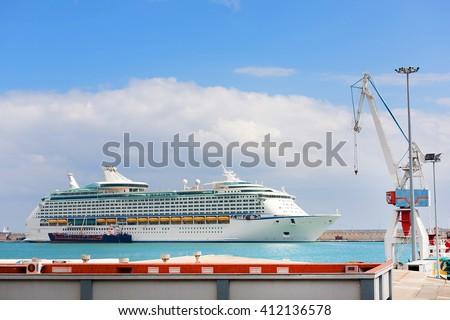 Harbour of Santa Cruz de Tenerife, Canary Islands, Spain - stock photo