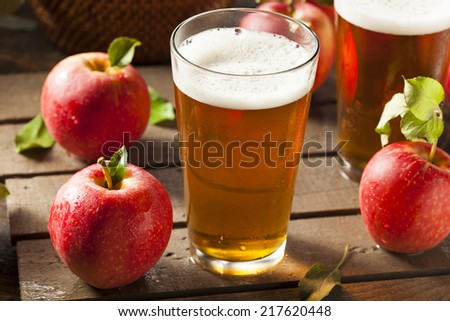 Hard Apple Cider Ale Ready to Drink - stock photo
