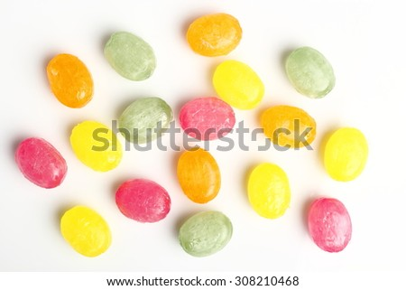 Hard Candies. Isolated on a white background. - stock photo