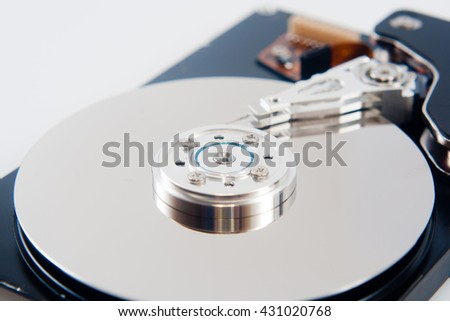 Hard disk drive close-up
