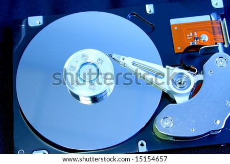 Hard disk drive details isolated image