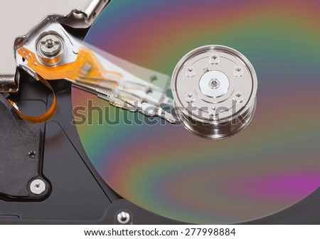 hard disk drive isolated