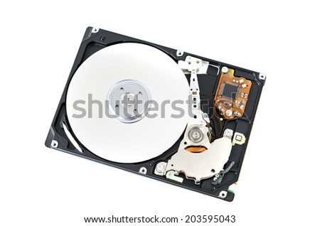 hard disk drive platter isolated on white