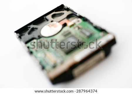 hard disk for computer  - stock photo