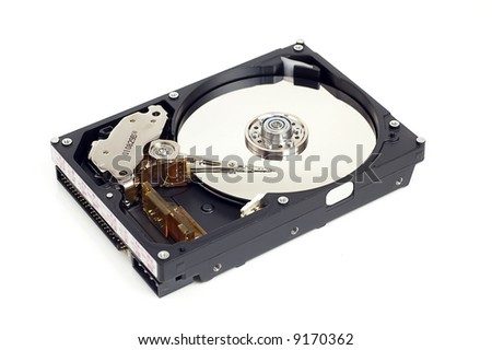 Hard disk in white background