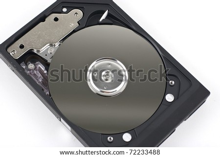 Hard disk isolated on white