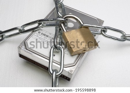 hard disk security - stock photo