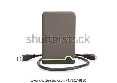 Hard disk with USB - stock photo